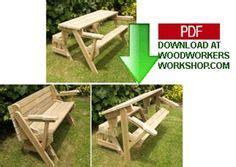 folding picnic table  bench seat  plans