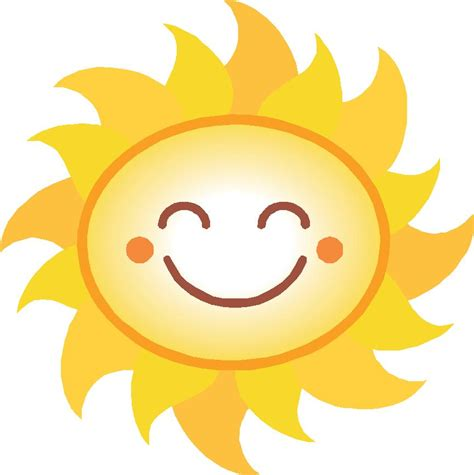 smiling sun image cliparts co