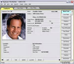 personnel database template employee record keeping system for small business