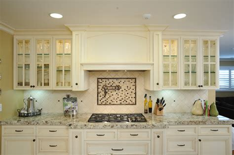 range hood ideas Kitchen Traditional with custom cabinet