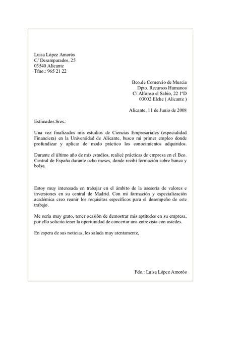carta de presentacion para un empleo modelos de carta de contestaci 243 n a un anuncio de trabajo candidatura