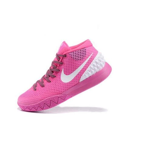 pink womens basketball shoes womens nike kyrie 1 quot think pink quot white basketball shoes