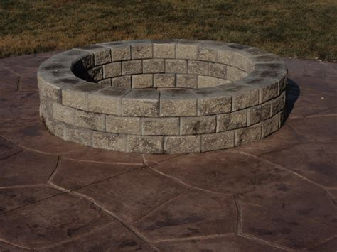 Simple Concrete Fire Pit Outdoor Decorations Concrete Pit