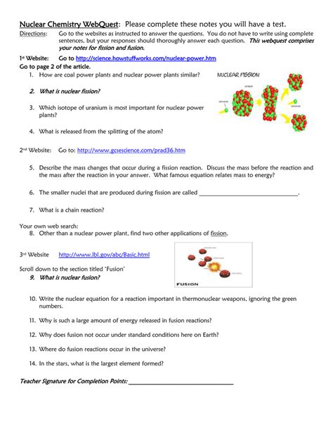 Nuclear Fission And Fusion Worksheet Answers Free