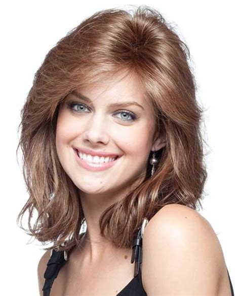 15 thick medium length hairstyles hairstyles haircuts