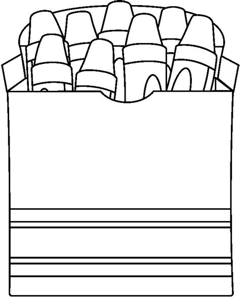 Crayon Box For Word Wall Coloring Pages Pinterest Crayon Coloring Page