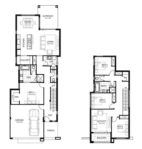 4 bedroom house plans 2 storey 4 bedroom house designs perth apg homes