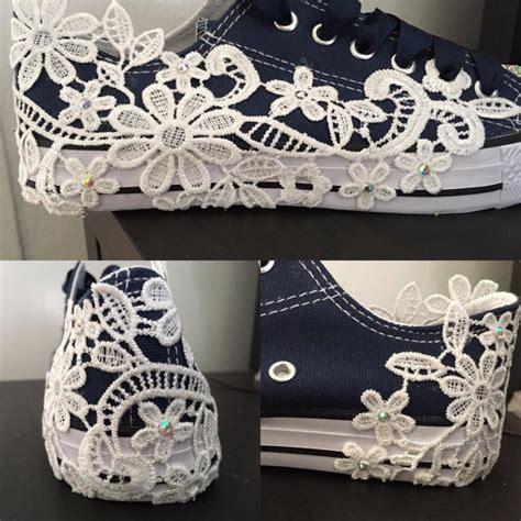 navy blue flat wedding shoes navy blue converse style bridal shoes wedding shoes flats lace