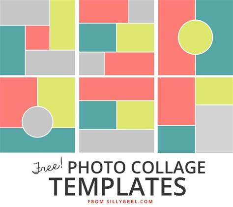 templates for collages in photoshop 28 best free collage templates images on pinterest