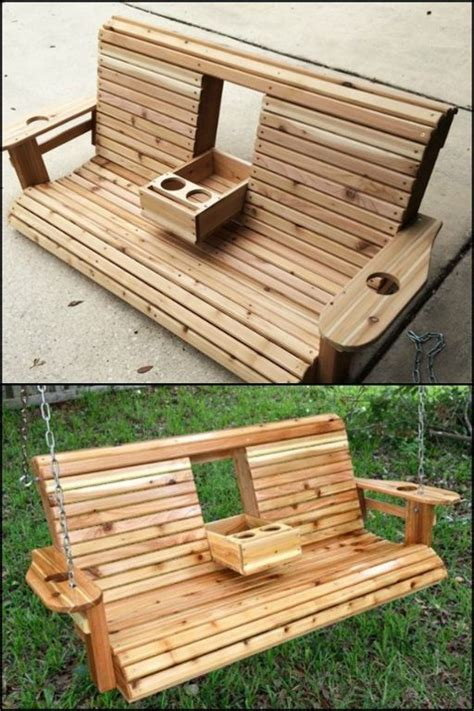 swing benches wooden unwind in your yard with this diy porch swing bench with