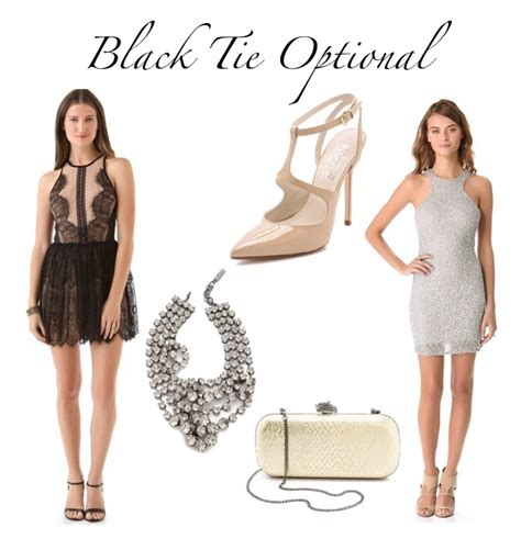 Wedding Attire Black Tie Optional by What To Wear To Black Tie Optional Shmorgasboards