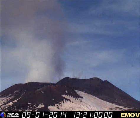 tremori interni etna forte degassazione dai crateri sommitali le