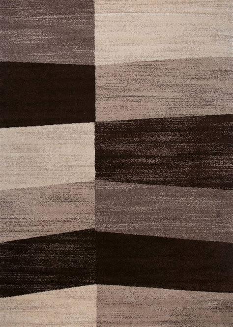 teppiche braun beige moderner teppich beige braun geometrisches fl 228 chen muster