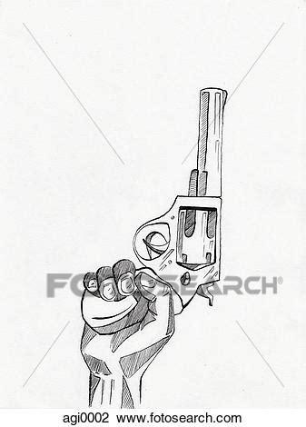 Clipart - passe segurar, um, arma, ar agi0002 - Busca de