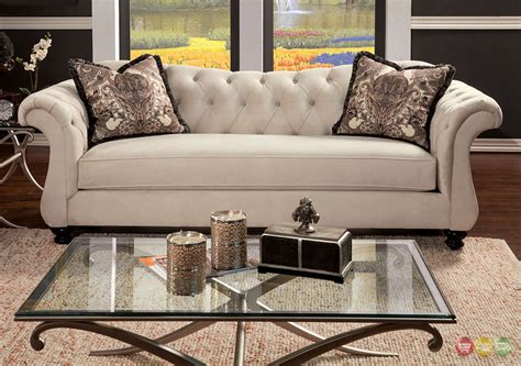 tufted sofa and loveseat set antoinette crystal button tufted transitional living room