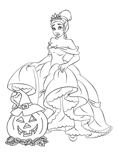 coloring pages halloween princess free disney halloween coloring pages lovebugs and postcards