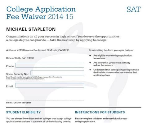 Simon Mba Fee Waiver by Sle College Application How To Write A Letter Of
