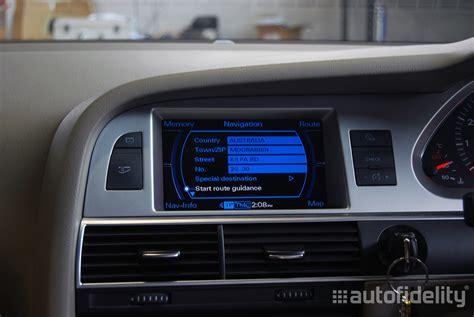 Audi A6 Navigation System by 2g Mmi Integrated Dvd Based Satellite Navigation System