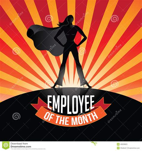 employee of the month poster template employee of the month burst stock vector image 49259823