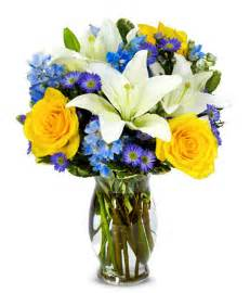 Personalized Vases The Bright Blue Skies Bouquet At From You Flowers
