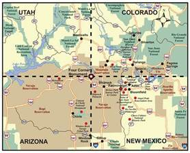new mexico and colorado map the southwest through wide brown if two routes merge