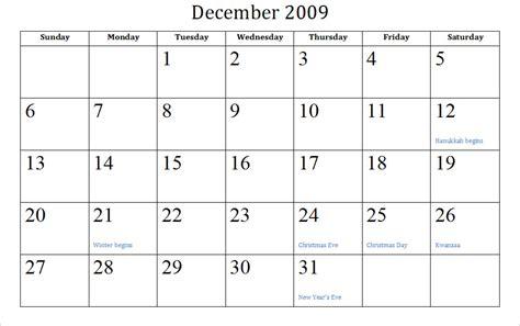 Calendar 2008 December Printable blank printable calendar for december 2008