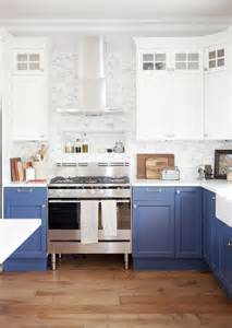 Kitchen White And Blue by Instaprojects Balacynwydmodernboho Design