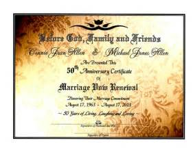 sacred golden shimmer marriage vow renewal certificate