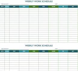 template weekly schedule free weekly schedule templates for excel smartsheet