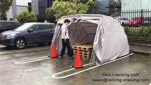 Car Cover India Portable Car Shelter Hailstorm Test After Hailstorm