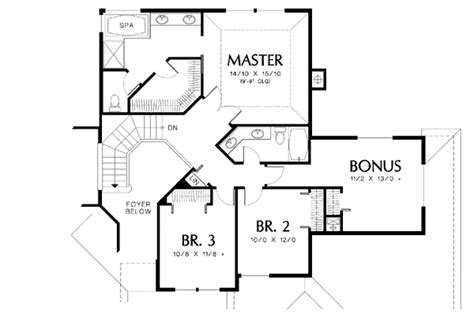 staircase floor plan contemporary plan with curved staircase 69318am 2nd