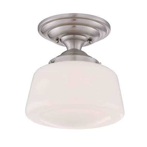 led semi flush mount ceiling lights hton bay 10 5 in brushed nickel led semi flush mount