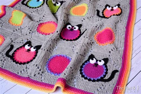 cat blanket pattern crochet cat pattern blanket