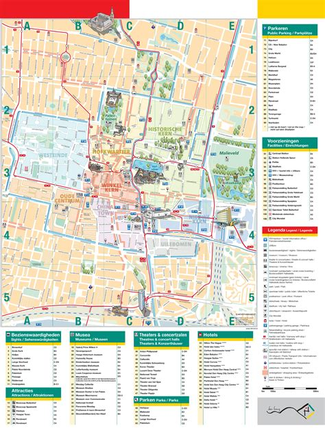 netherlands the hague map maps update 700714 the hague tourist map 12 top