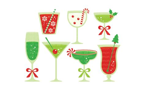 christmas martini clip christmas cocktails clipart www imgkid com the image