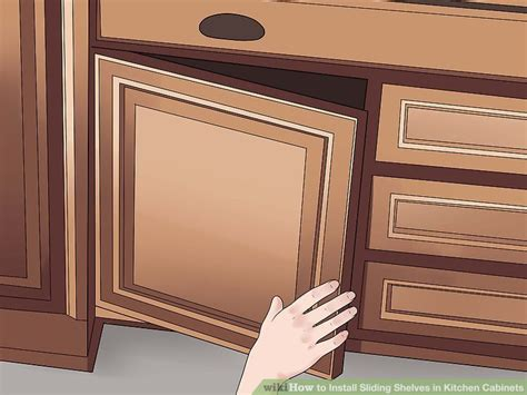 Sliding Shelves For Kitchen Cabinets Wire How To Install Sliding Shelves In Kitchen Cabinets With Pictures