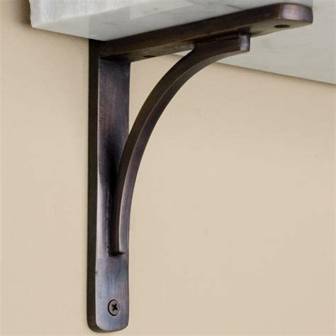 Shelf Bracket Hardware by Rustic Brass Shelf Bracket Brass Shelf Brackets Shelf