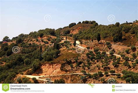 Landscape Pictures Of Greece Rural Landscape On The Crete Greece Stock