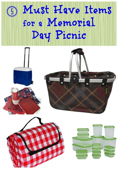 must have home items 5 must have items for a memorial day picnic