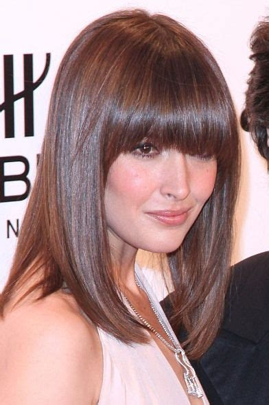 lob cut with bangs rose byrne sleek lob with bangs hair pinterest