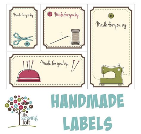 Handmade By Labels - printable quilt labels