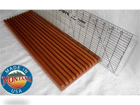 quilting ruler holder 11 slot solid mahogany 0804201301