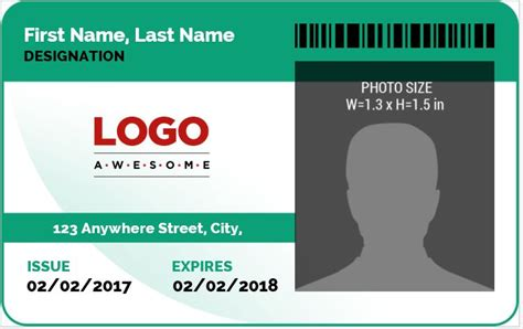 security guard id card template ms word photo id badge sle template word excel