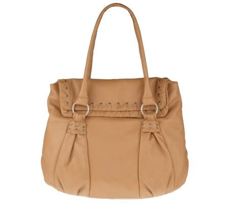 Fiore Woven Purse by Fiore By Fiore Leather Tote W Gathered Woven