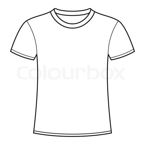 blank white t shirt template stock vector colourbox