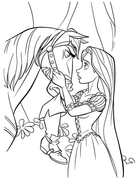 Tangled Coloring Pages Printable free printable tangled coloring pages for