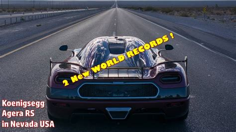 koenigsegg taiwan koenigsegg agera rs sets 2 new world records in nevada doovi