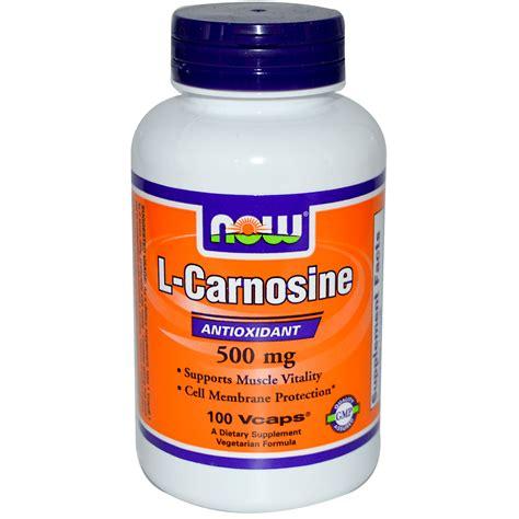 now foods l carnosine 500 mg 100 vcaps