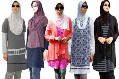 Pakaian Wanita Baju Terusan Blue Fashion Modern tren model baju batik muslim indonesia terbaru design bild