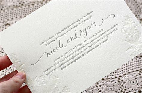 letterpress wedding invitations wales bespoke press letterpress wedding